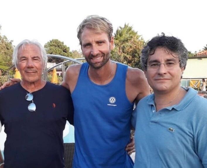 Massimo Borracci, Massimiliano Rosolino e Simone Bernardini